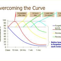 ラッセルの復習曲線のグラフ