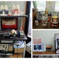 人形や招き猫の写真