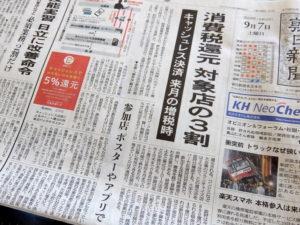 消費増税の新聞紙面
